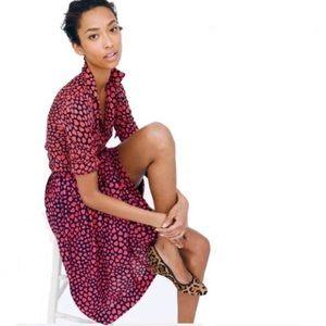 Jcrew Jardin Pleated Heart Throb Midi Skirt